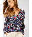 Cecil Blouse with Floral Print - Deep Blue