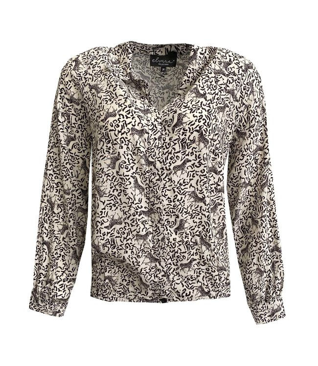 Elvira Collections Blouse Lilly - Animal Sand