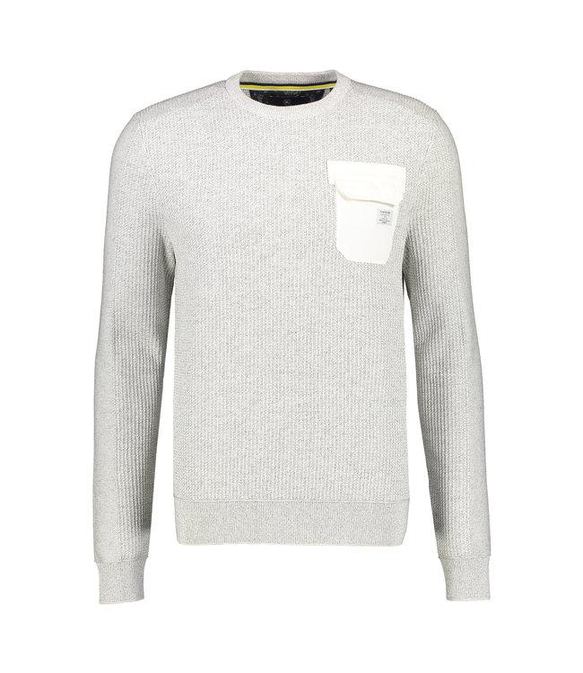 Lerros Round Neck Sweater - Cream White Melange