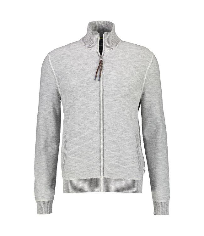 Lerros Sporty Cardigan - Smoky Grey Melange