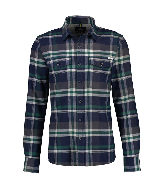 Lerros Checkered Flannel Shirt - Navy