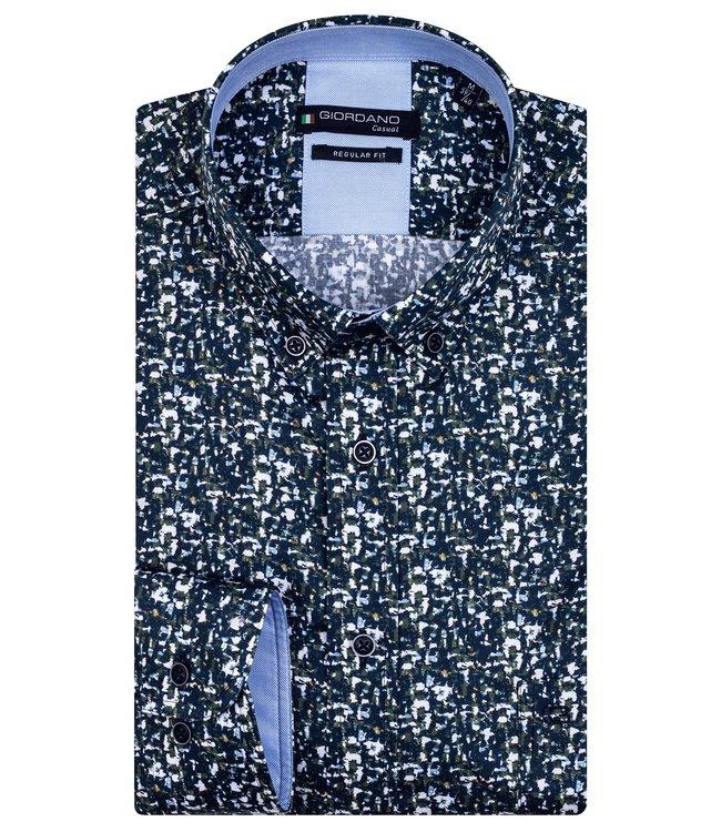 Giordano Button-Down Shirt - Dark Green
