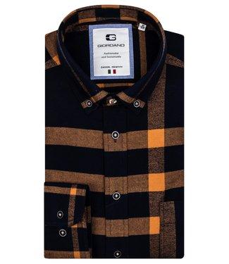 Giordano Flannel Button-Down Shirt - Royal Blue
