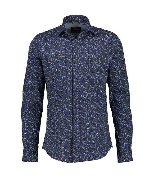 Lerros Shirt with Allover Print - Bold Navy