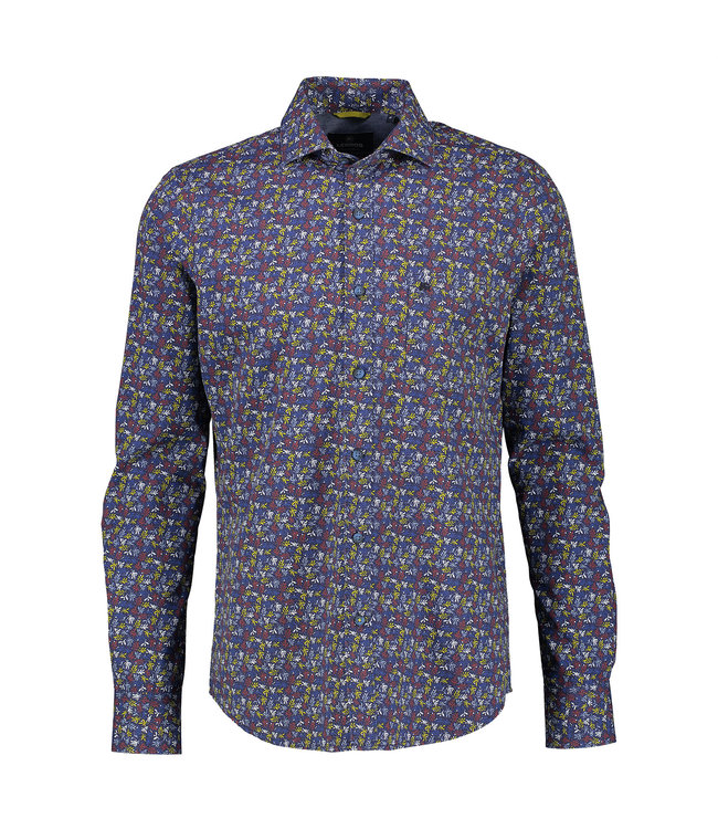 Lerros Shirt with Allover Print - Burnt Red
