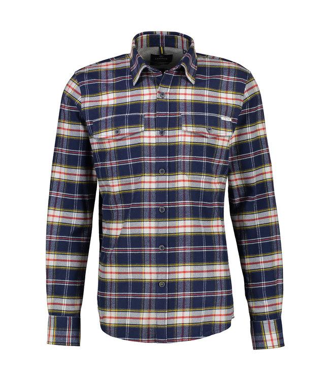 Lerros Checkered Flannel Shirt - Bold Navy