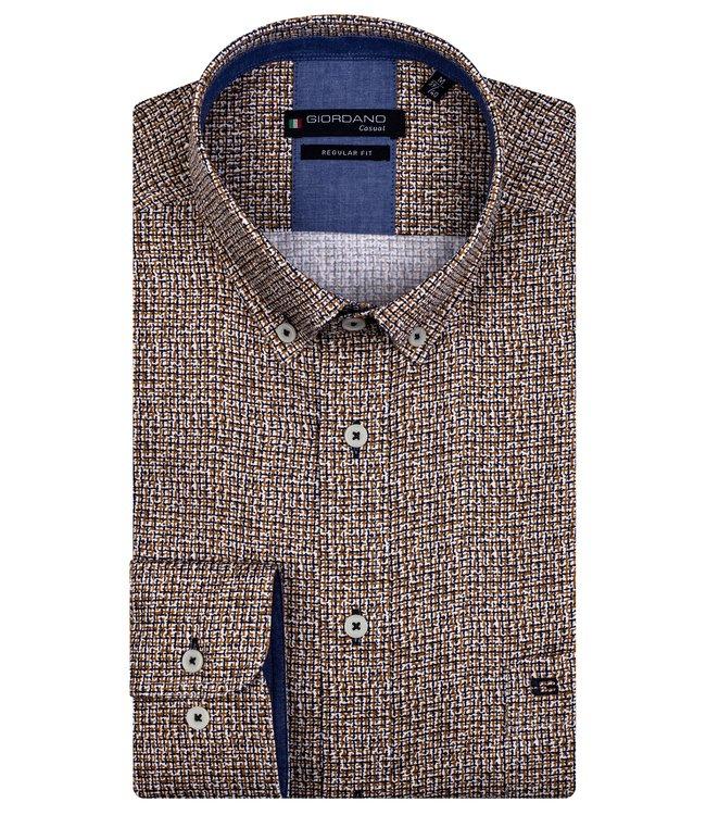 Giordano Button-Down Shirt - Camel