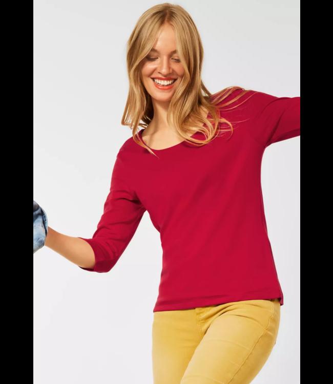 Street One Basic Shirt Pania - Full Red