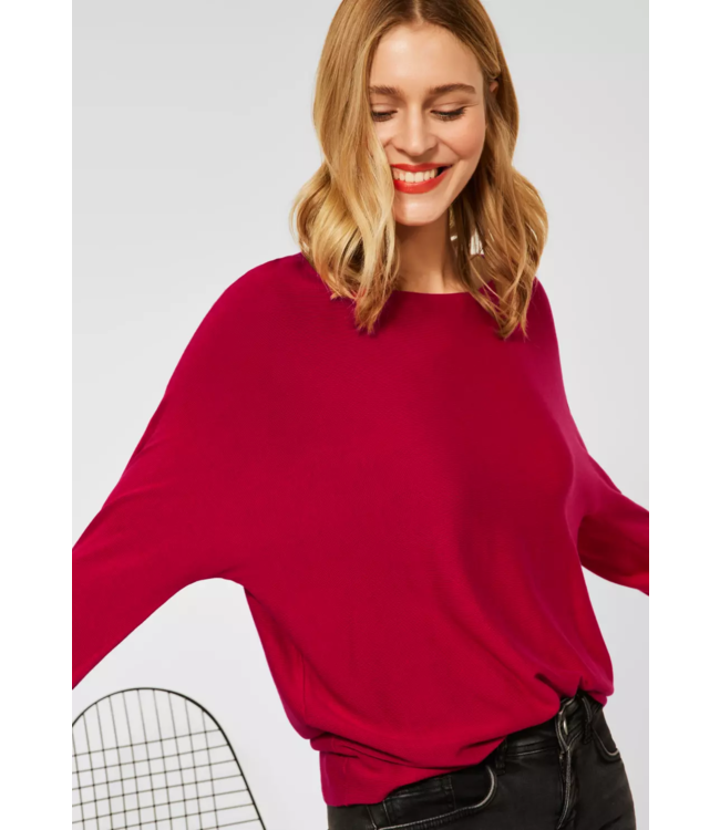 Street One Basic Sweater Noreen - Full Red