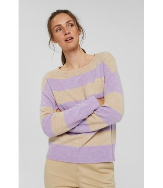 Esprit Sweater with Stripes - Sand