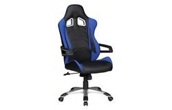 Speed Bureaustoel Zwart/Blauw