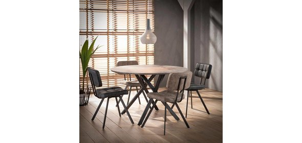 Davidi Design Ebro Eetkamerstoel 4 stuks Bruin