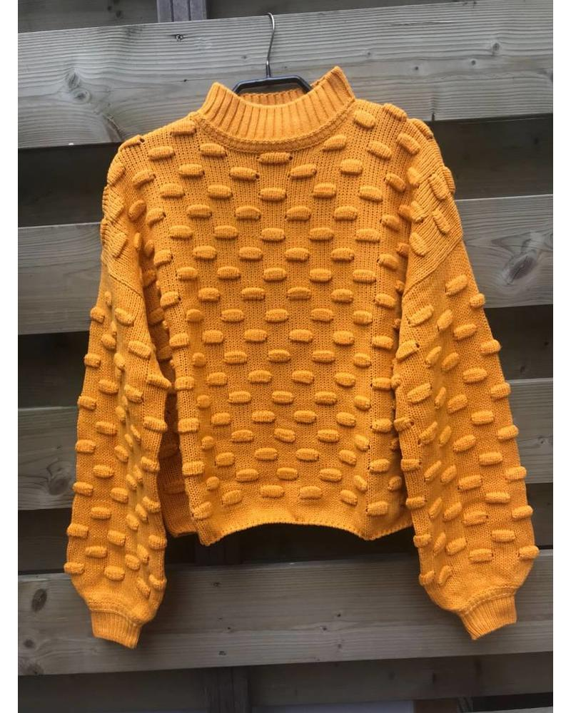 Rut and Circle Jacquard Sweater