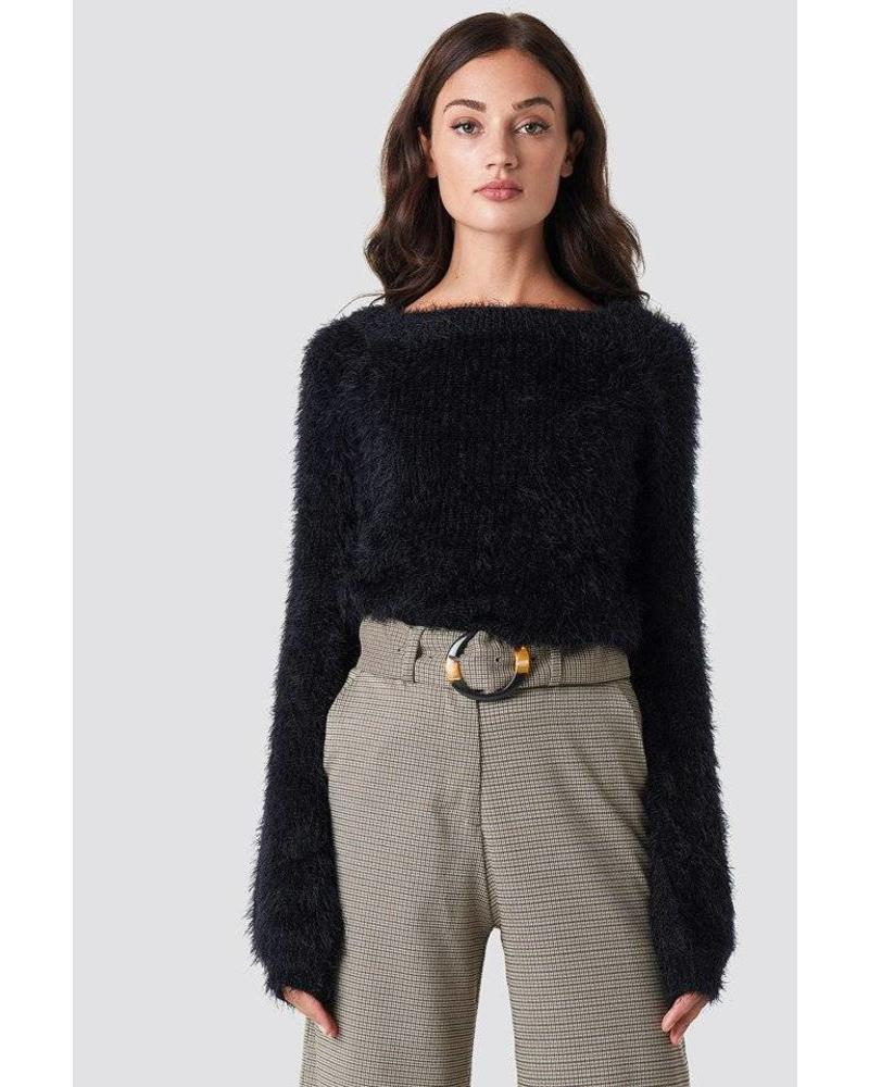 Rut and Circle Feather Knit
