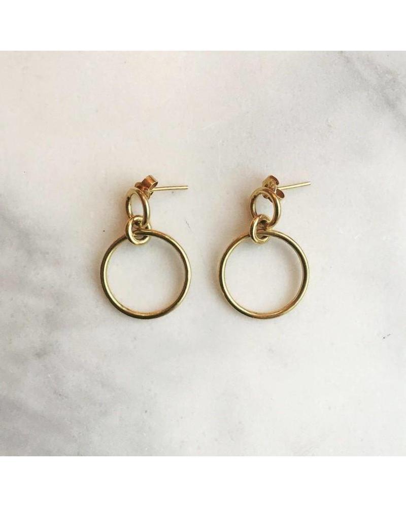 Sweet Palms Sweet Palms Gold Circle Hoop Earrings