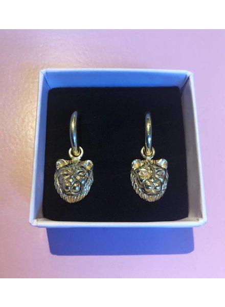 Sweet Palms Sweet Palms Lion earrings
