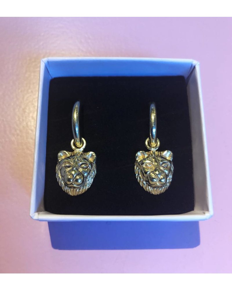 Sweet Palms Sweet Palms Lion earrings