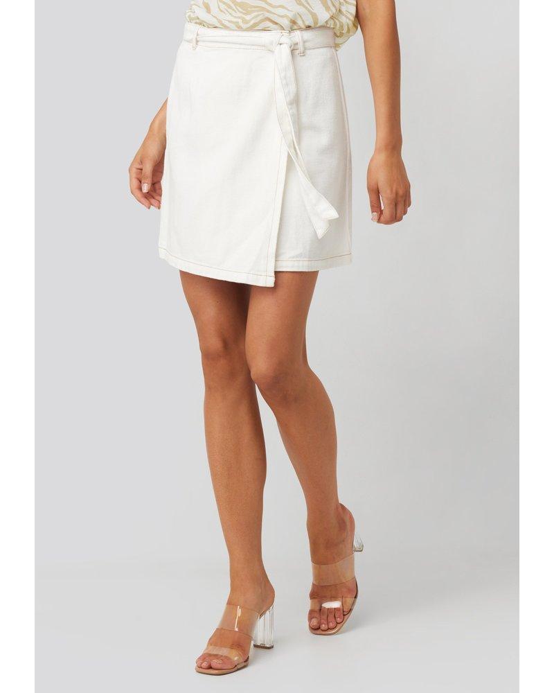 Rut & Circle Lina Wrapped Denim Skirt
