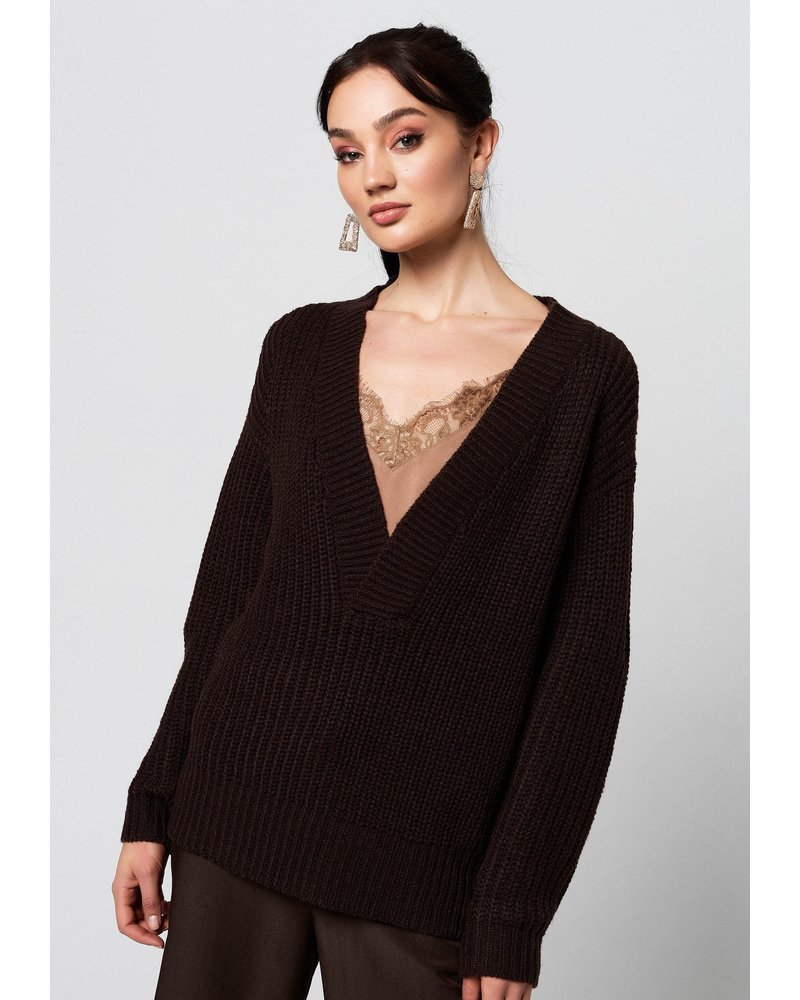 Rut & Circle Melody V Neck Knit