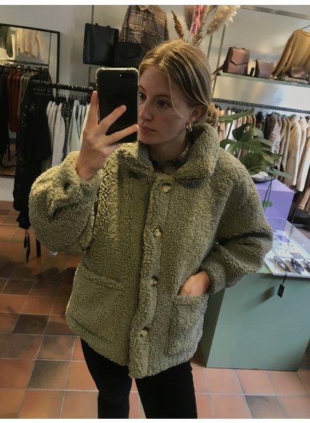 Fluffy Jacket Green