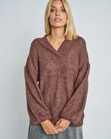 Native Youth Brown Comfy Sweater