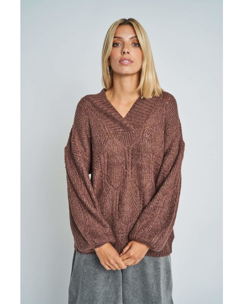 Native Youth Native Youth Brown Comfy Sweater