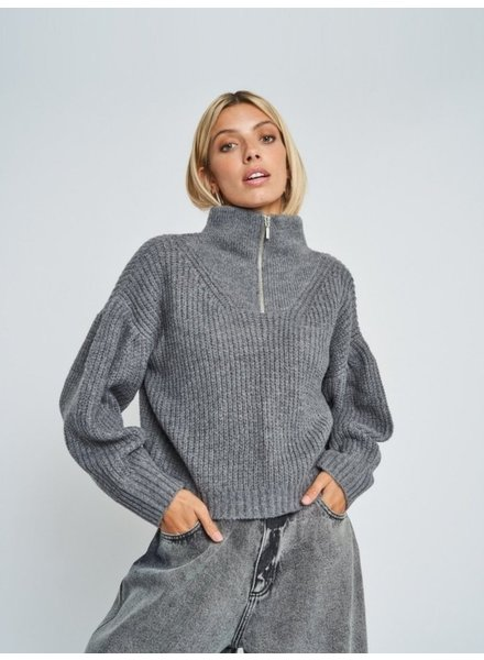 Native Youth Kara Zip Knit