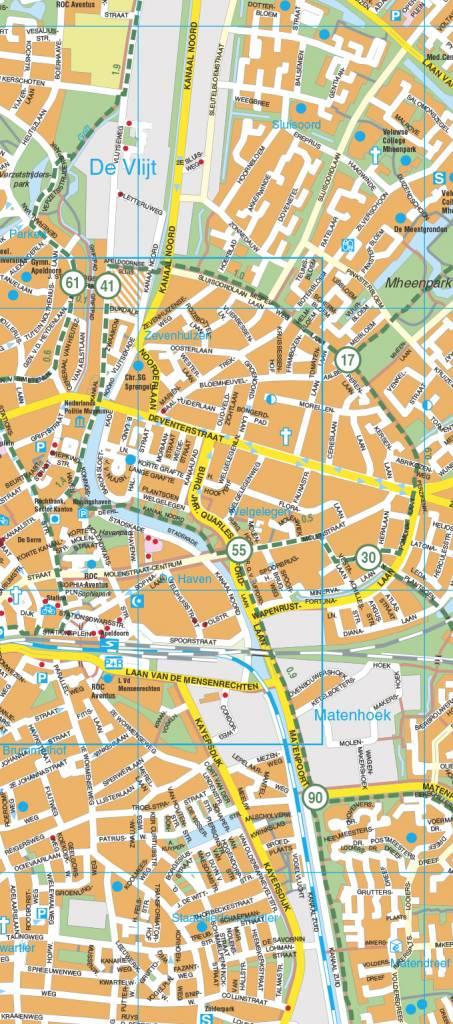 Falk Stadsplattegrond Fietskaart Apeldoorn Route Nl Webshop