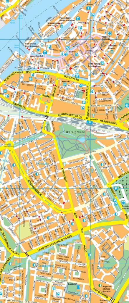 Falk Stadsplattegrond Fietskaart Dordrecht Route Nl Webshop