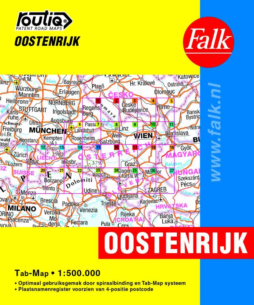 Falk Routiq Autokaart Oostenrijk tab-map, picture 200537804