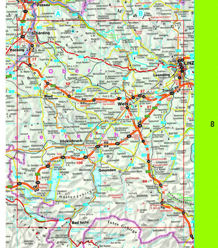 Falk Routiq Autokaart Oostenrijk tab-map, picture 200537969