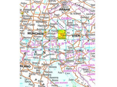 Falk Routiq Autokaart Oostenrijk tab-map, picture 200538134