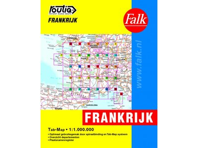 Falk Autokaart Frankrijk Routiq tab map, picture 200542133