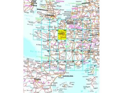 Falk Autokaart Frankrijk Routiq tab map, picture 200542379