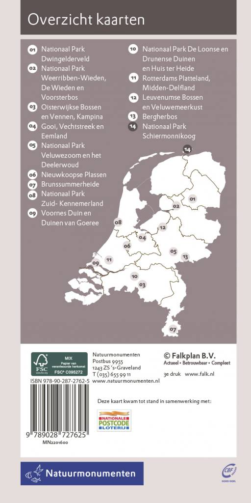 Natuurmonumenten Wandelkaart Natuurmonumenten 14. Nationaal Park Schiermonnikoog, picture 220275320