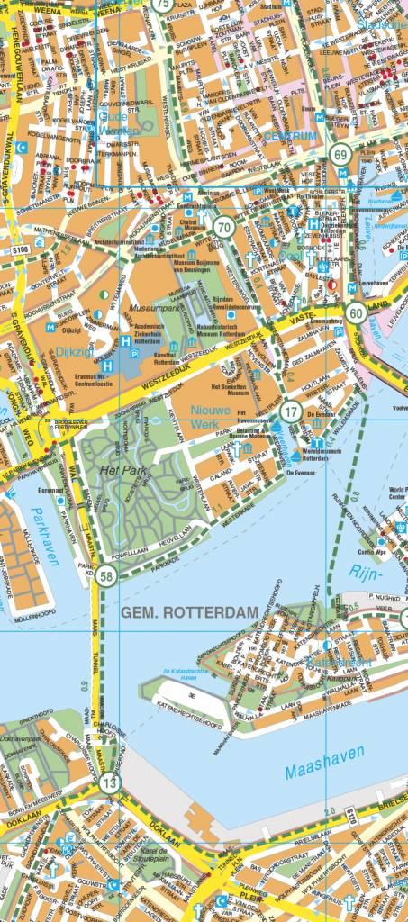 Falk Stadsplattegrond Fietskaart Rotterdam Route Nl Webshop