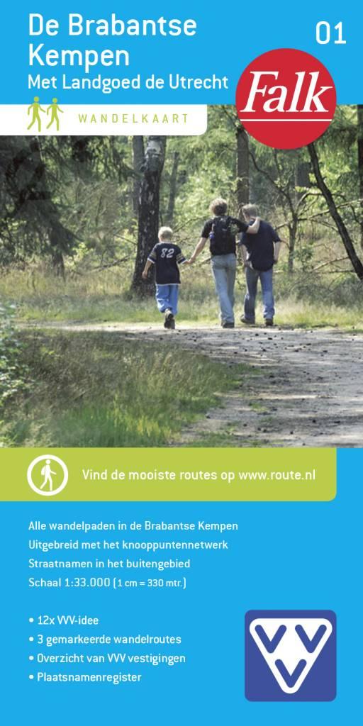 Falk VVV Wandelkaart 01 De Brabantse Kempen met landgoed de Utrecht, picture 251337707