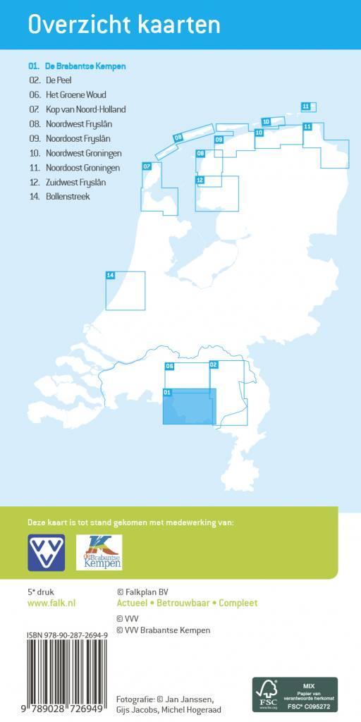 Falk VVV Wandelkaart 01 De Brabantse Kempen met landgoed de Utrecht, picture 251338037