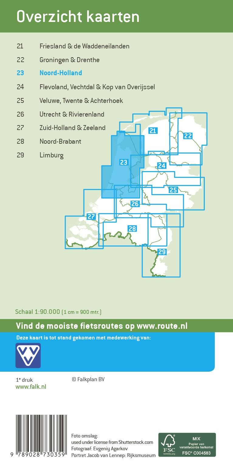 Falk Compact Fietskaart 23. Noord-Holland, picture 268262240