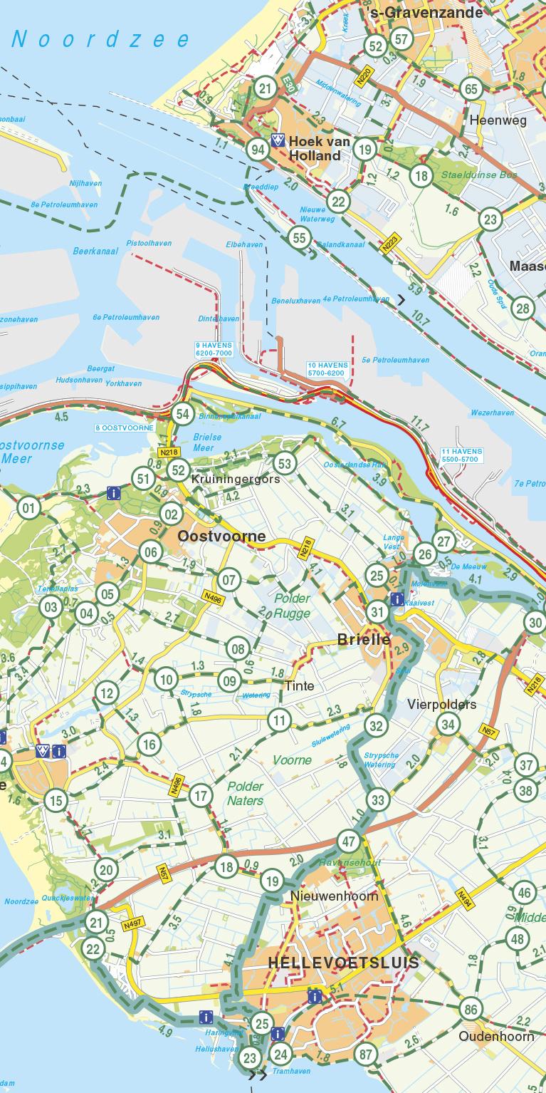 Falk Compact Fietskaart 27. Zuid-Holland & Zeeland, picture 268277459