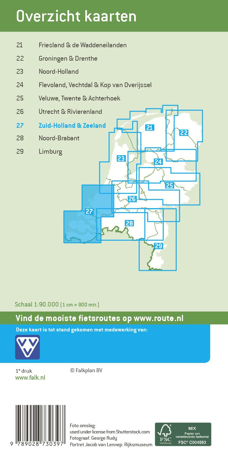 Falk Compact Fietskaart 27. Zuid-Holland & Zeeland, picture 268277510