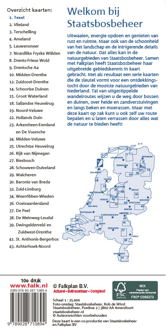 Staatsbosbeheer Wandelkaart 01. Texel, picture 270255058
