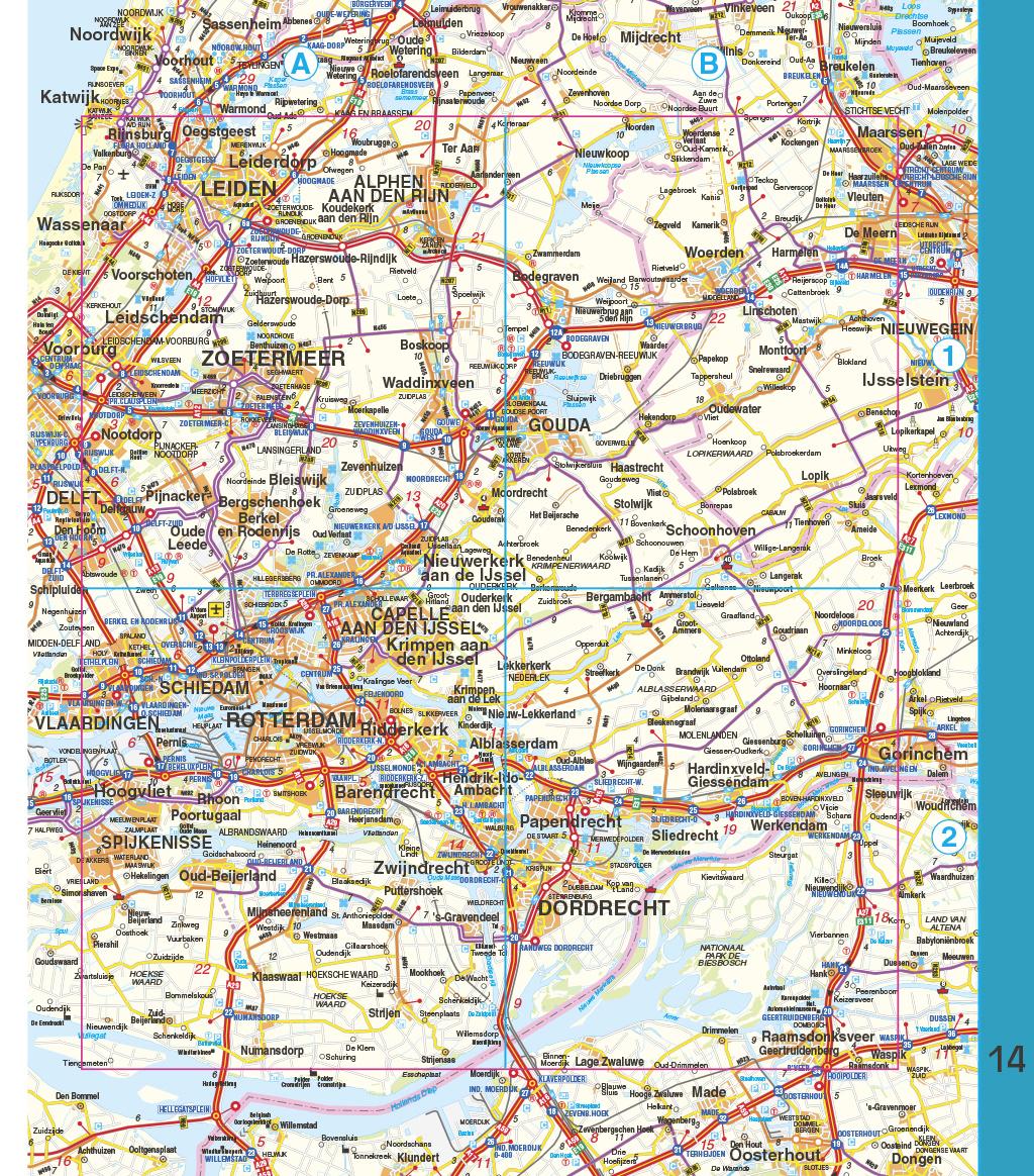 Falk Routiq autokaart Nederland Tab Map, picture 283737723