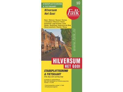 Falk Stadsplattegrond & fietskaart Hilversum met Het Gooi, picture 287694537