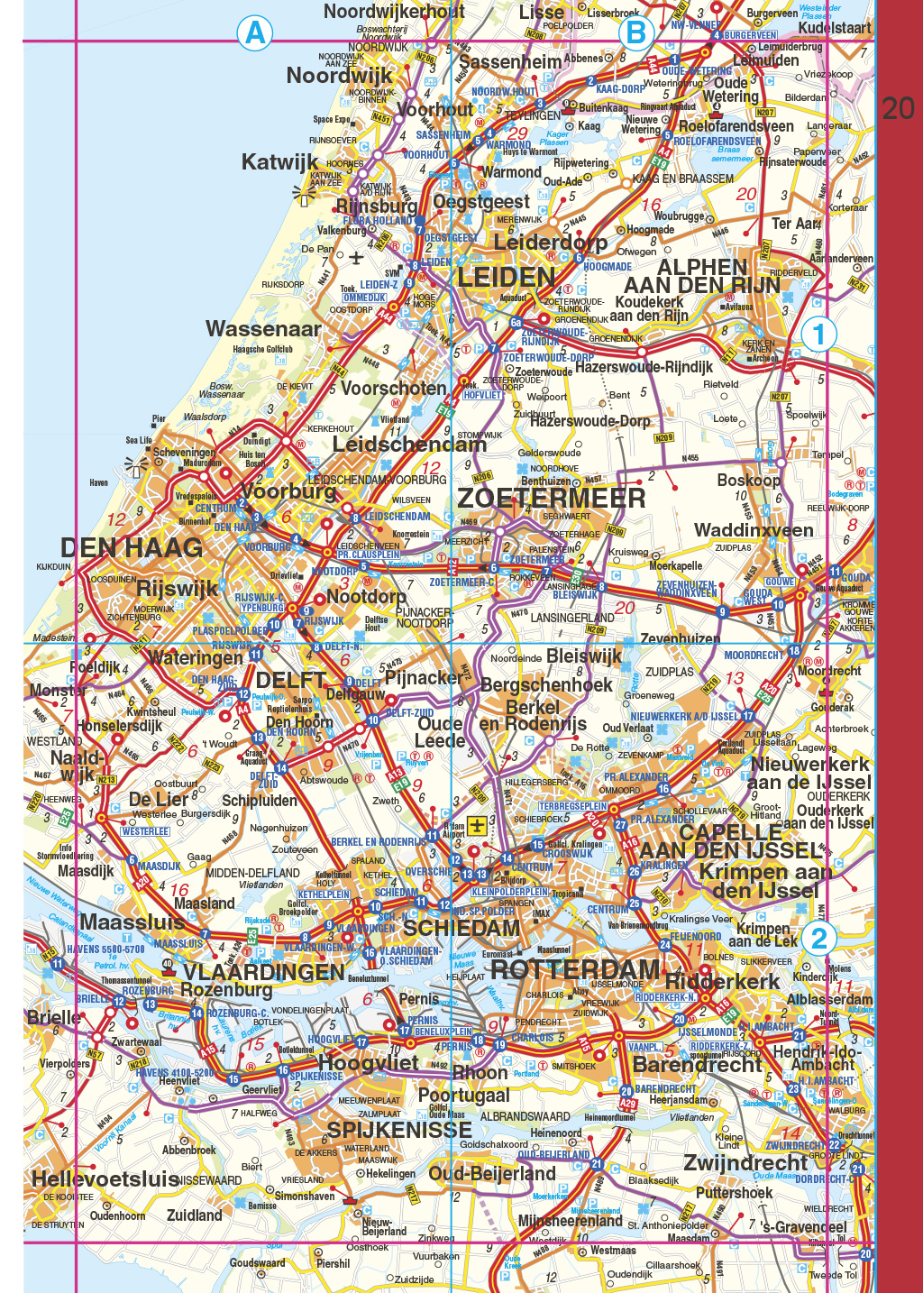 Falk Routiq autokaart Nederland Maxi Tab Map, picture 317756266