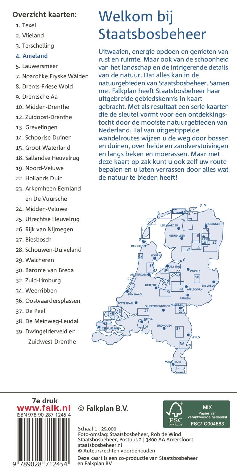 Staatsbosbeheer Wandelkaart 04 Ameland, picture 343306545