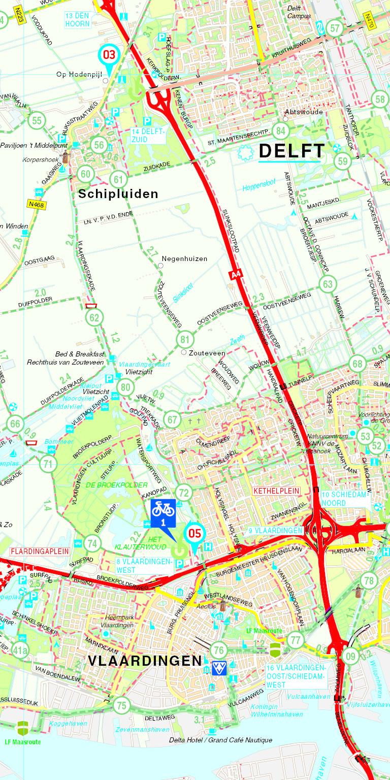 VVV Fietskaart 15. Zuid-Holland-Zuid, picture 366837835