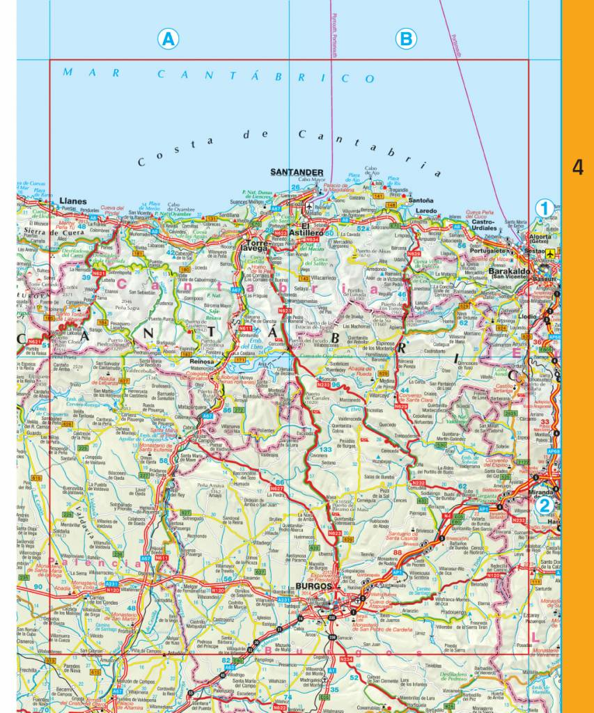 Falk Routiq autokaart Spanje / Portugal Tab Map, picture 85334123