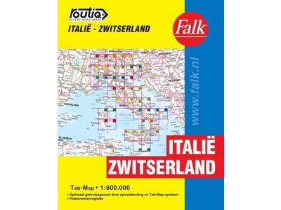 Falk Routiq autokaart Italië en Zwitserland Tab Map, picture 85334522