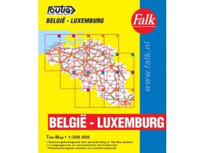 Falk Routiq autokaart België / Luxemburg Tab Map, picture 86024216